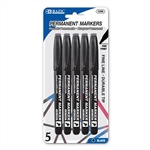 Wholesale BAZIC Black Fine Tip Permanent Markers (6/Pack)  Case Pack 144