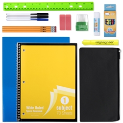 Wholesale 12 piece school supply kit