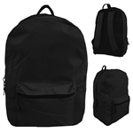 Wholesale 15 Inch Backpack Black Case Pack 24