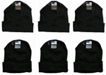 Wholesale Adult Knit Hats - Black Only