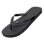 Wholesale Mens's Rubber Zory Flip Flops  Case Pack 48  Black Only