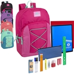 wholesale 17 nch backpacks with school supply kits